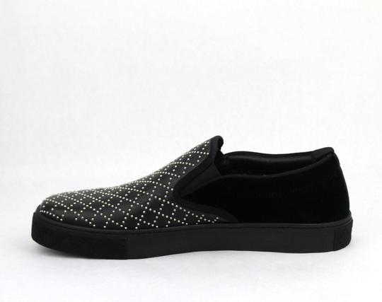 Gucci Black Studded Leather Suede Slip-on Sneaker 6g / Us 6.5 322758 Shoes Image 7