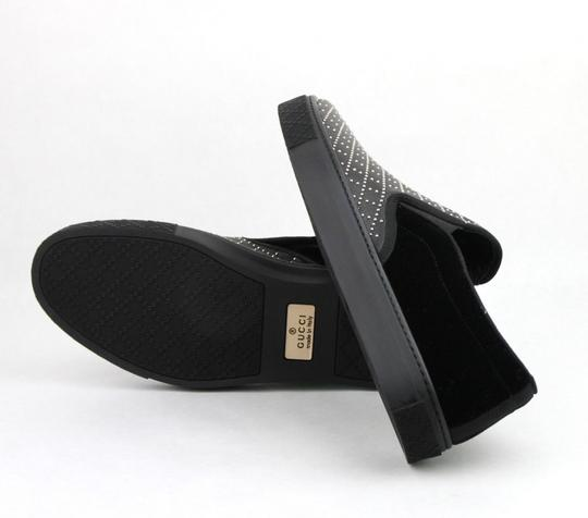 Gucci Black Studded Leather Suede Slip-on Sneaker 6g / Us 6.5 322758 Shoes Image 8