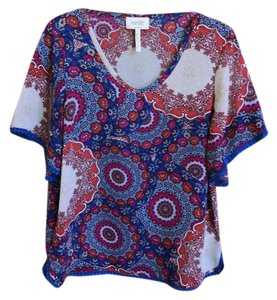 Laundry by Shelli Segal Top royal blue, raspberry