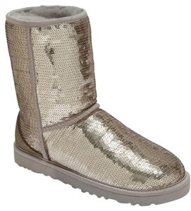 UGG Australia Silver Sequin Boots