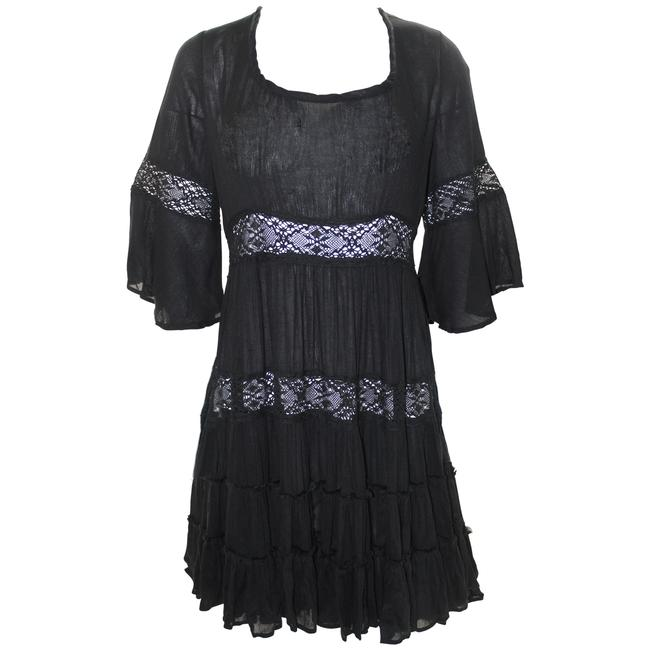 Free People Black Pre-owned Daisy Small Short Casual Dress Size 4 (S) Free People Black Pre-owned Daisy Small Short Casual Dress Size 4 (S) Image 1