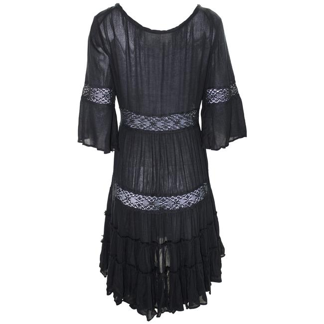 Free People short dress Black Lace Rayon Dryclean Only on Tradesy Image 2