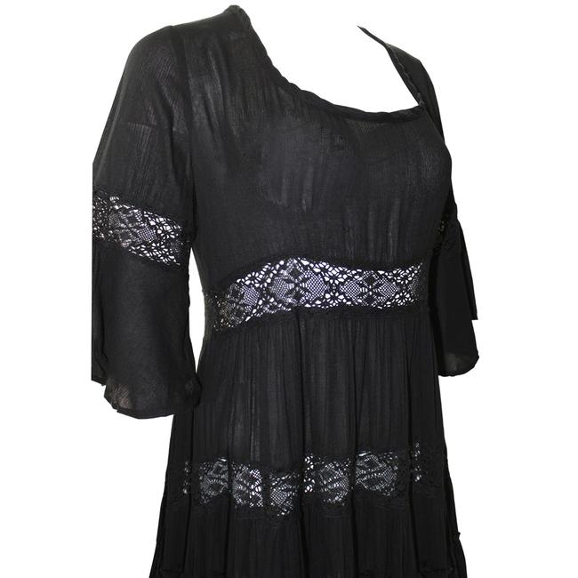 Free People short dress Black Lace Rayon Dryclean Only on Tradesy Image 3