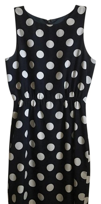 Item - Navy and White Mid-length Work/Office Dress Size 2 (XS)