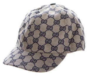 Gucci Navy blue GG monogram canvas Gucci baseball cap