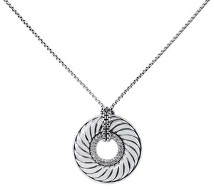 David Yurman David Yurman .75ctw Diamond Disc Pendant Necklace