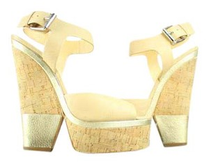 Giuseppe Zanotti Platforms Strapps Cork Lady Peep Open Toe Wedges