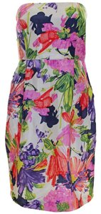 J.Crew short dress Garden Floral Silk Dry Clean Pre-owned on Tradesy