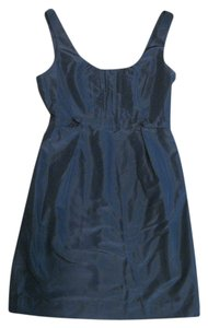 J.Crew Silk Taffeta Bridesmaid Scoop Back Blue Dress