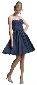 Mori Lee Spring Empire Waist Strapless Sweetheart Chiffon Dress