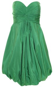 Anthropologie short dress Green Strapless Silk Cotton on Tradesy