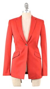 Rag & Bone Bright Long Sleeve Stretch Cotton Minimalist red Blazer