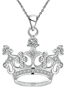 Other Mardi Gras Ball Crown Crystal Necklace
