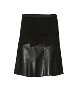 J'ENVIE Pull Combo Fabric Skirt Black