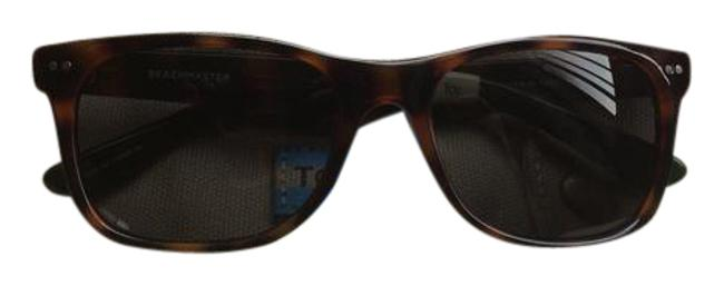 Item - Tortoise Shell with Green and White Ends Beachmaster Unisex Sunglasses