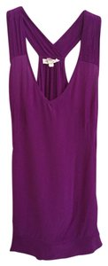 Silence + Noise Silk Top Dark Fuschia