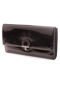 Salvatore Ferragamo Salvatore Ferragamo Black Patent Leather Long Wallet