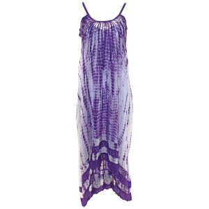 Purple Combo Maxi Dress by Free People Maxi Tie Dye Cotton