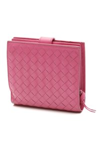 Bottega Veneta Bottega Veneta Peony Intrecciato Nappa Leather Mini Wallet