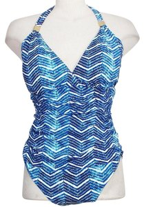 Lauren Ralph Lauren Halter Herringbone Slimming Fit Swimsuit 20W
