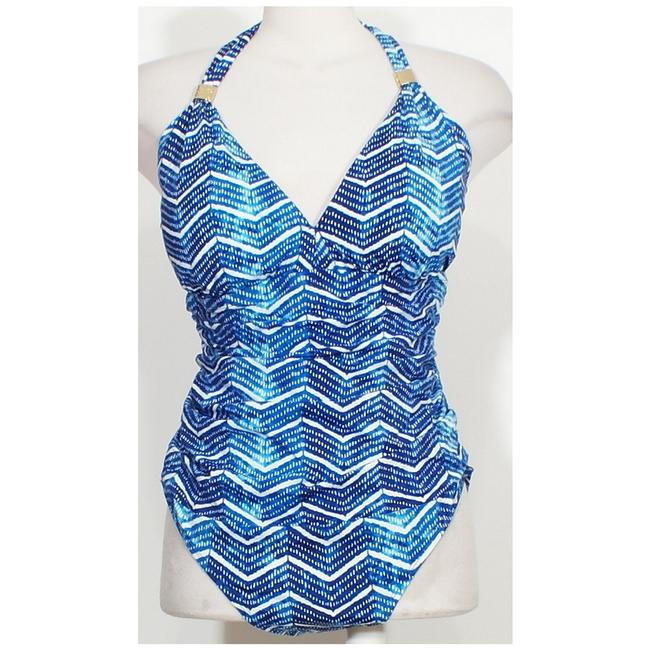 Lauren Ralph Lauren Halter Herringbone Slimming Fit Swimsuit 20W Image 2