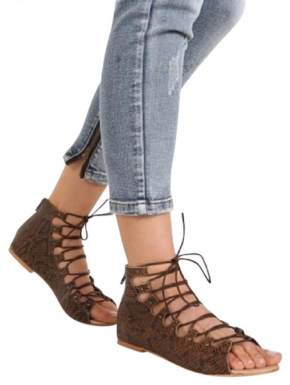 Preload https://img-static.tradesy.com/item/20930819/matisse-brown-snake-print-lace-up-flat-sandals-size-us-8-regular-m-b-0-1-540-540.jpg