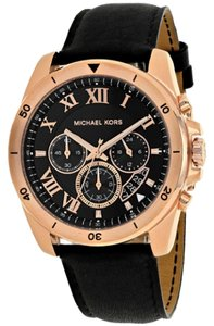 Michael Kors Michael Kors Men's Brecken Chronograph Black Leather watch MK8544