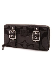 Coach Coach Black Signature Canvas Carly Zip-Around Wallet