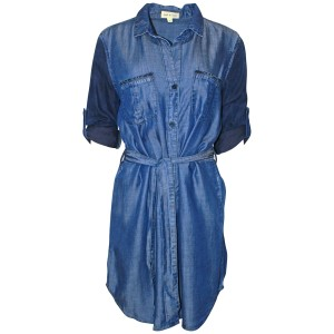 Cloth & Stone short dress Blue Denim Tunic Buttondown on Tradesy