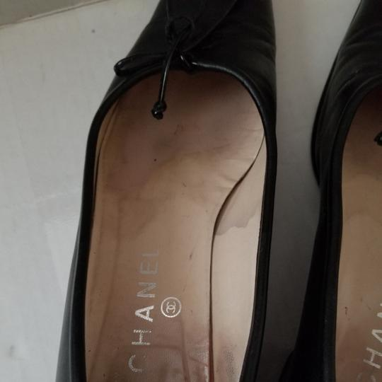 Chanel Black Flats Image 6