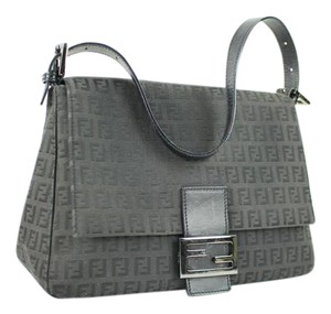 Fendi Monogram Ff Baguette Mamma Mama Satchel in Black