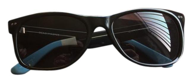 Item - Black with Blue and White Ends Beachmaster Unisex Sunglasses