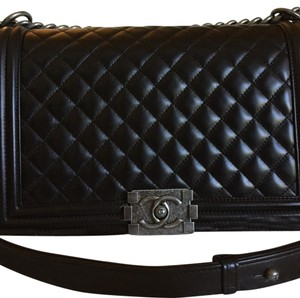 f64aba48b4e Added to Shopping Bag. Chanel Shoulder Bag. Chanel Boy Le New Medium Size Black  Lambskin ...
