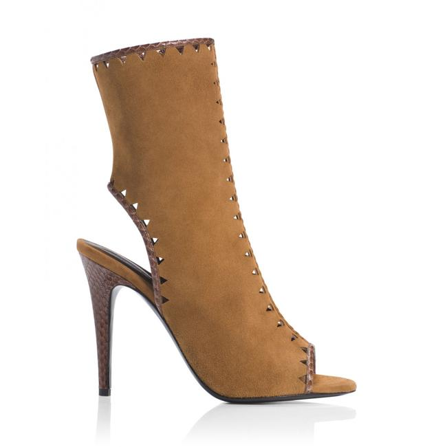 Tamara Mellon Tan Suede Sunkiss 105mm Heels Boots/Booties Size EU 35 (Approx. US 5) Regular (M, B) Tamara Mellon Tan Suede Sunkiss 105mm Heels Boots/Booties Size EU 35 (Approx. US 5) Regular (M, B) Image 1