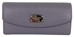 Michael Kors MICHAEL KORS Lilac Leather Slim Flap Wallet Clutch New NWT