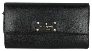 Kate Spade KATE SPADE Black Leather Wesley Clutch Wallet New NWT