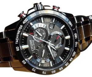 Citizen Citizen AT4008-51E Stainless Steel Black Dial Eco-Drive Chronograph (Without Tags)
