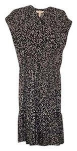 Rebecca Taylor short dress Black with cream, pink, blue and brown flowers on Tradesy