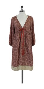 Rozae Nichols short dress Multi Red Navy Taupe Print on Tradesy