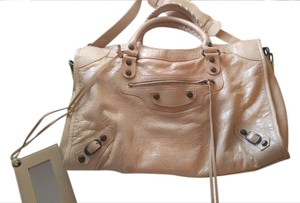 Balenciaga Leather Tote in Cream
