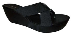 Donald J. Pliner Platform Wedge Thong black Sandals