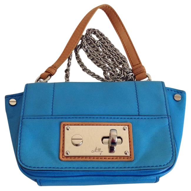 MILLY Blue Leather Cross Body Bag MILLY Blue Leather Cross Body Bag Image 1