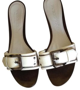 Burberry White. Sandals