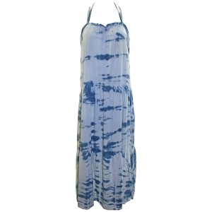 Blue Combo Maxi Dress by Woodleigh Maxi Tie Dye Blue Rayon
