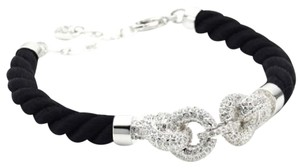 Swarovski New-in-box-Swarovski-Pave-Crystal-Knot-Black-Cord-Bracelet-155 New-i