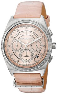 Michael Kors Michael Kors Women's Chronograph Vail Blush Leather Strap Watch MK2615