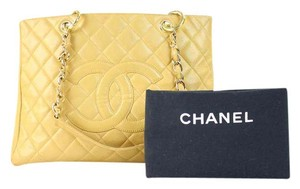 Chanel Gst Grand Grand Tote in Beige