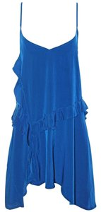 Free People short dress Blue Sexy Spaghetti Strap Polyester on Tradesy