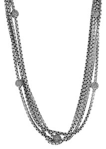 David Yurman David Yurman Two Tone Multi Strand Diamond Necklace