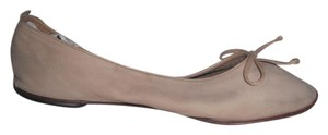Bally Kidskin Suede Leather Ballerina Nude Flats